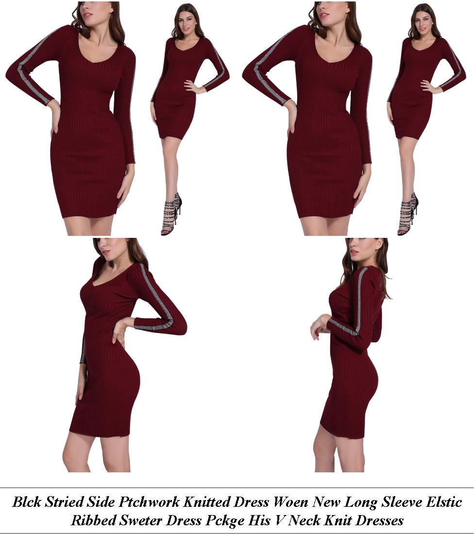 Off The Shoulder Midi Dress Long Sleeve - Same Store Sales Definition - Clothing Shopping Online Usa