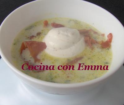 Sopa de rúcula