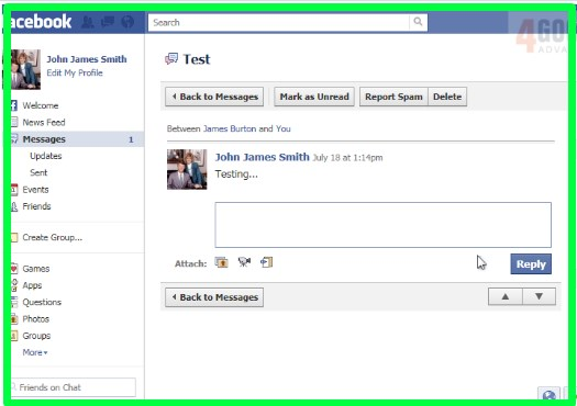 how to view messages on facebook from non friends