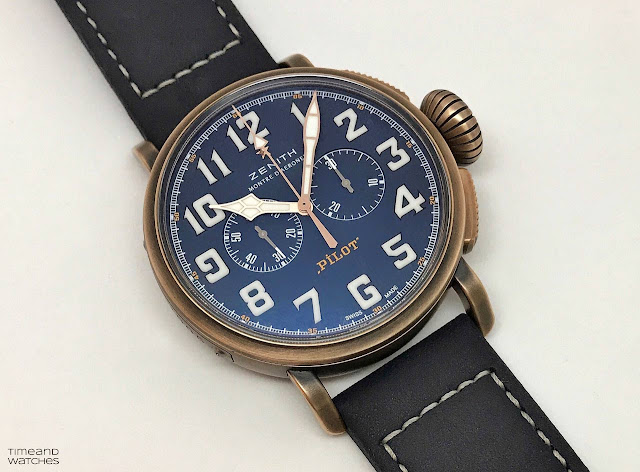 Zenith Pilot Type 20 Extra Special Chronograph, bronze case, blue dial Ref. 29.2430.4069/57.C808