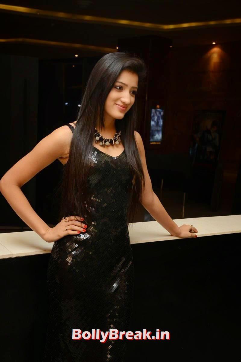 Richa Panai Photo Gallery with no Watermarks, Richa Panai Hot Hd Pics in Shiny Black Short Dress