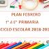 PLAN (Febrero) 1° A 6° PRIMARIA CICLO ESCOLAR 2018-2019.