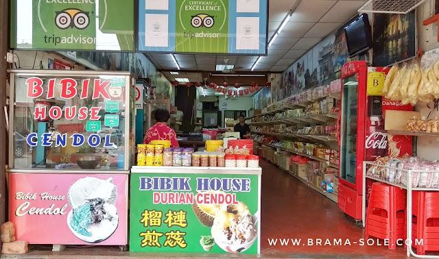 Lokasi Bibik House Durian Cendol Melaka sebelahan dengan Seven Eleven