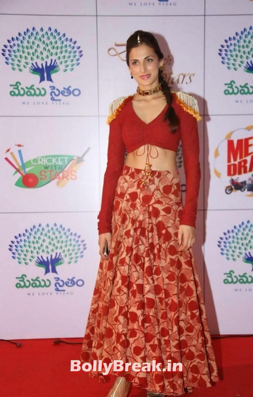 Shilpa Reddy Stills, Shilpa Reddy Navel Pics in Red Hot Dress
