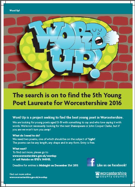 Worcestershire Arts Partnership: Young Poet Laureate For