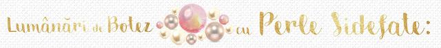 Lumanari de botez cu perle