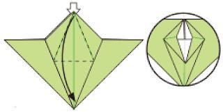 Bước 7: Mở và kéo lớp giấy xuống phía dưới