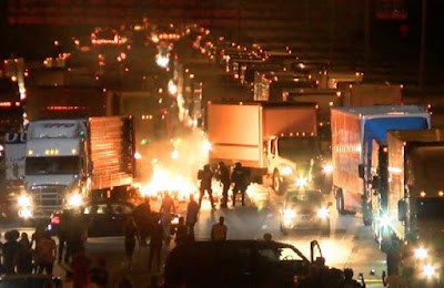 12 police officers injured during riots in North Carolina