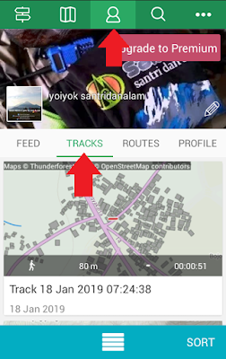 menggunakan aplikasi gps viewranger