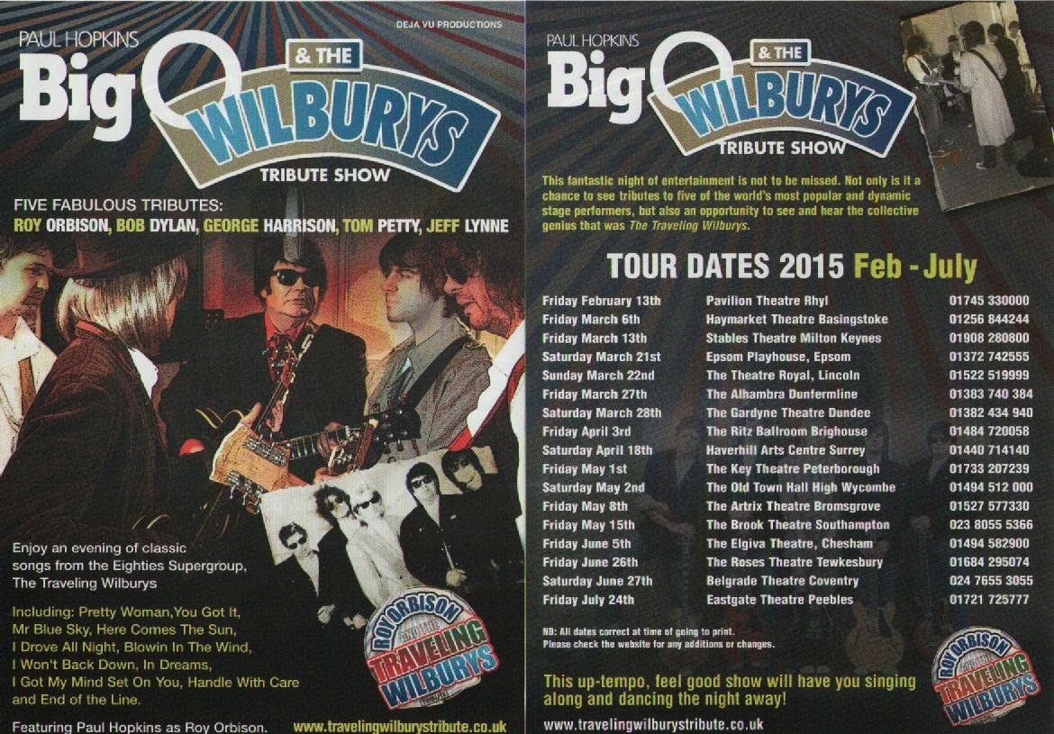 Elobeatlesforever Caught Live Roy Orbison Amp The Traveling Wilburys Tribute Show