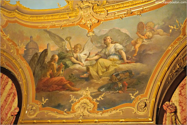 Fresco de Clio en el Salón Matutino y Biblioteca de Marble House, Newport