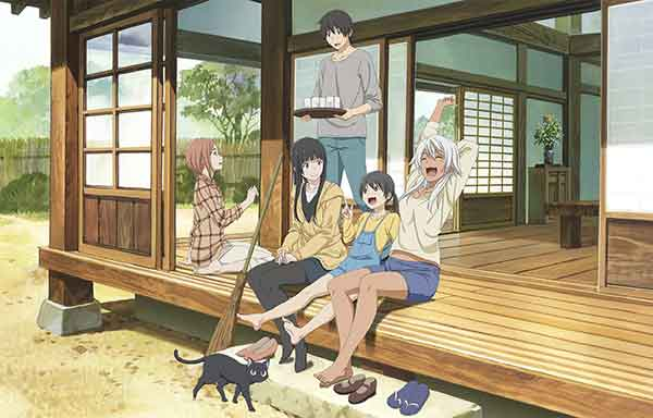 Flying witch cover - anime rileks dan sejuk