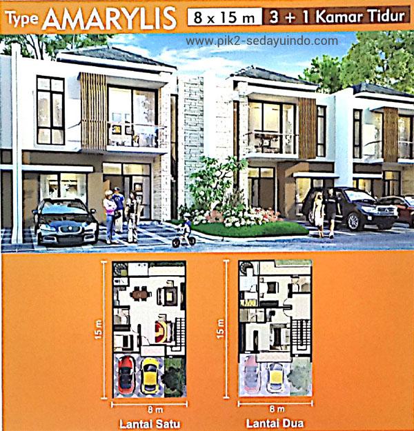 Rumah PIK 2 Dijual Tipe Amarylis Cluster Virginia