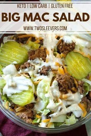 Low Carb Hamburger Salad