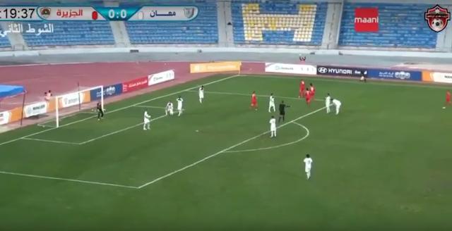 اهداف مباراة الجزيرة ومعان كاس المناصير الاردني