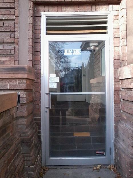 Glass Door Mail Slot