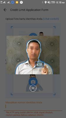 cara foto selfie dan pegang ktp di aplikasi akulaku agar di terima
