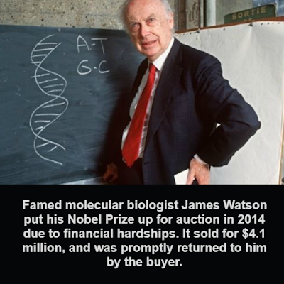 Billionaire bought James Watson's Nobel prize medal in order to return it