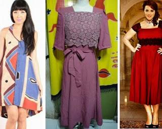 gambar model baju terusan modern