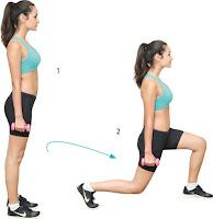 mengecilkan paha,gerakan lunges