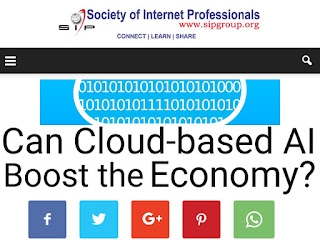 Society of Internet Professionals: Can Cloud-based AI Boost the Economy?