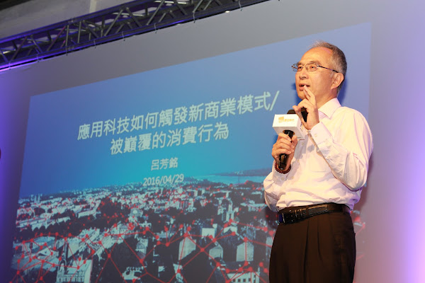 鴻海集團副總裁、亞太電信董事長呂芳銘。(圖片來源:郭涵羚攝)