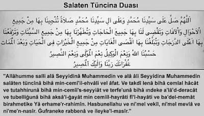 Salaten Tuncina Duası Arapça