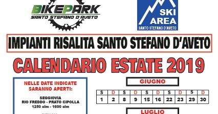 Calendario Cipolle 2019.Skiarea Santo Stefano D Aveto Calendario Estate 2019