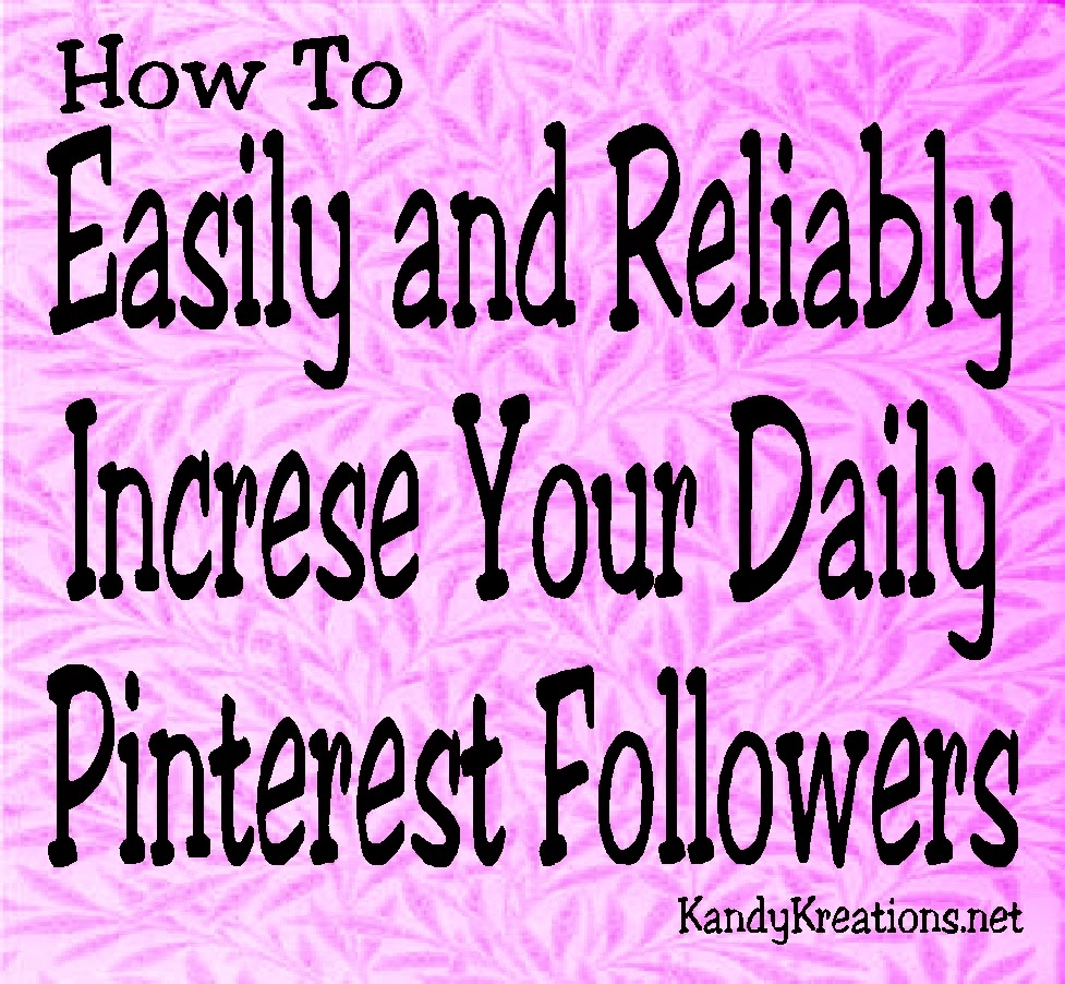 Increase your Pinterest followers daily with this easily and reliable trick. Here's a step by step guide how I'm doing it and you can too!