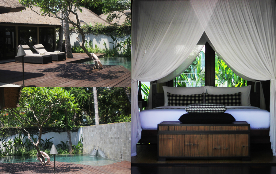 kayumanis private villa bed pool interior
