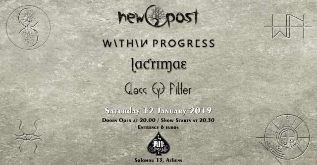 New Past, Within Progress, Lacrimae, Glass Eye Filter: Σάββατο 12 Ιανουαρίου @ An Club