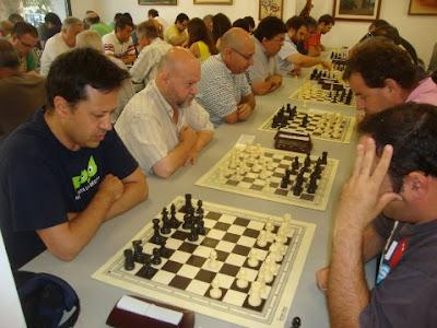 Los ajedrecistas del Granollers Jordi Herms, Jaume Costa, Albert Roquet y Josep Maria Parra en 2014