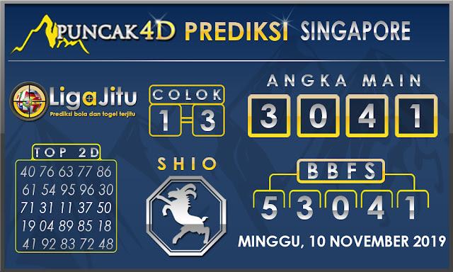 PREDIKSI TOGEL SINGAPORE PUNCAK4D 10 NOVEMBER 2019