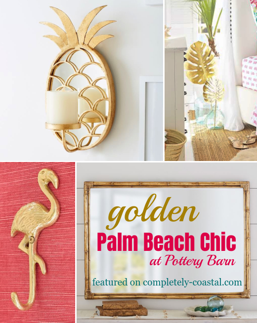 Gold Palm Beach Decor