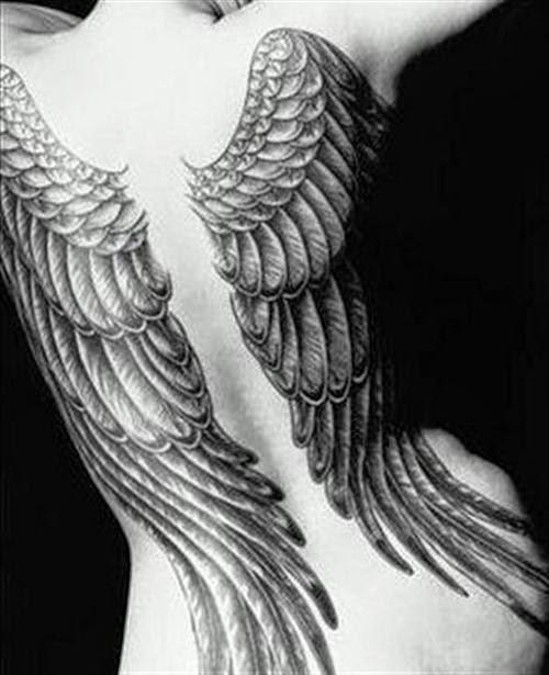 a61e311b27728 My fashion style: Beautiful Angel Wing Tattoos For Women