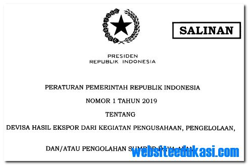 Peraturan Pemerintah Nomor 1 Tahun 2019