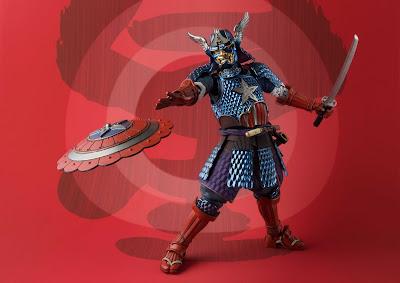Marvel Samurai Captain America Meisho Manga Realization Action Figure