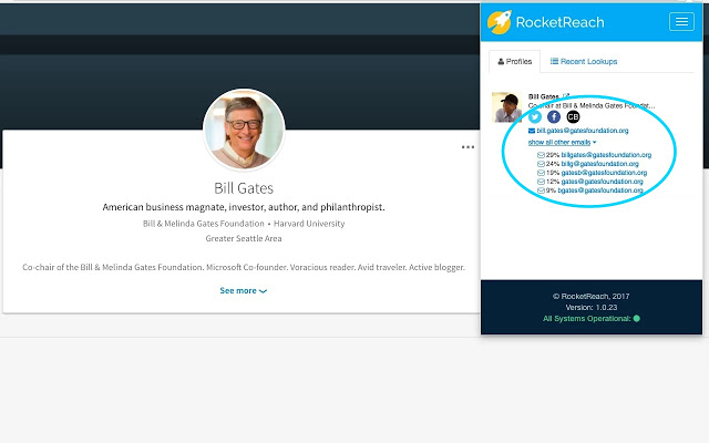 RocketReach Chrome Extension to Find Someone's Social Media Profile With Email Address