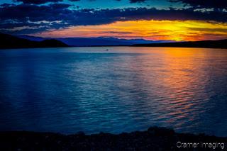 Cramer Imaging's quality landscape photograph of Mackay Reservoir Lake at sunset in Idaho