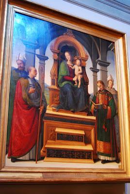 Vierge et quatre Saints, le Perugin