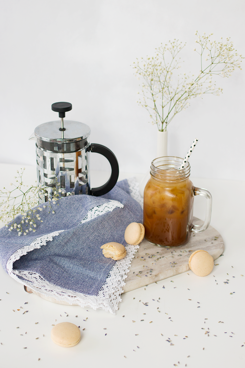 Easy lavender iced latte recipe  |  Adventures in Fashion