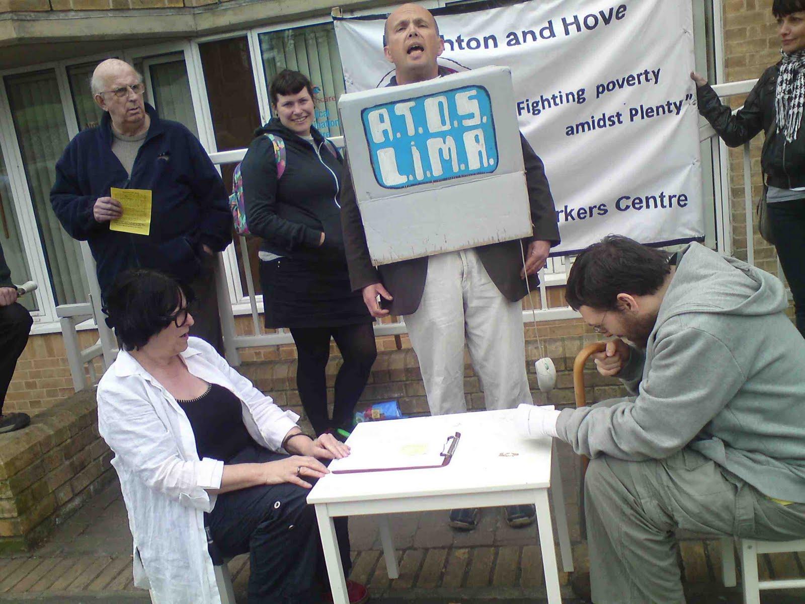 Tony Greenstein Blog: Tony Greenstein's Blog: Brighton Demonstration Protests