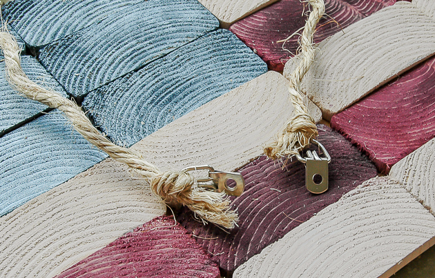 How to make an American flag out of 2x4 slices