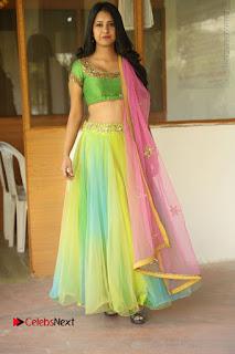 Actress Nikitha Bisht Stills in Lehenga Choli at Pochampally Ikat Art Mela Launch  0388.JPG