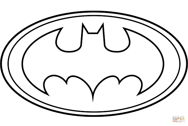 Click The Batman Logo Coloring Pages To View Printable Version Or Color It  Online Patible With Ipad And Android Tablets
