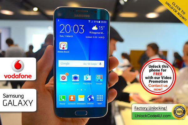 Factory Unlock Code Samsung Galaxy S6 from Vodafone