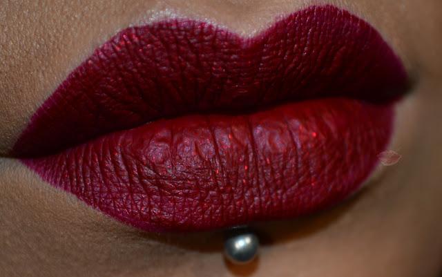 Red Lips using Studio Shine Lip Lustre Lady by L.A. Splash