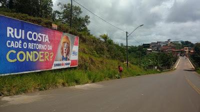 BAHIA: Prisco inicia campanha de outdoor para denunciar a suspensão do financiamento da Conder e cobrar a URV do funcionalismo público