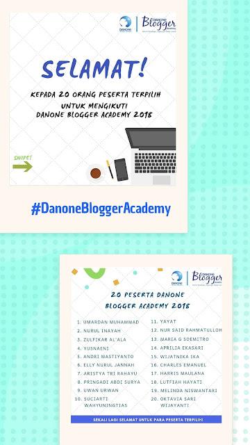 Danone Blogger Academy (DBA) merupakan program hasil kerjasama Danone dengan Kompasiana, yang bertujuan untuk memberikan pengayaan kepda blogger seputar bidang nutrisi dan kesehatan demi terciptanya konten kesehatan ala warga yang berkualitas.    Lalu apa saja rangakaian kegiatan dari DBA ini? Secara garis besar dibagi menjadi 4 tahap, yaitu :  1. Akademi Menulis  2. Filed Trip  3. Pembuatan Karya  4. Graduation