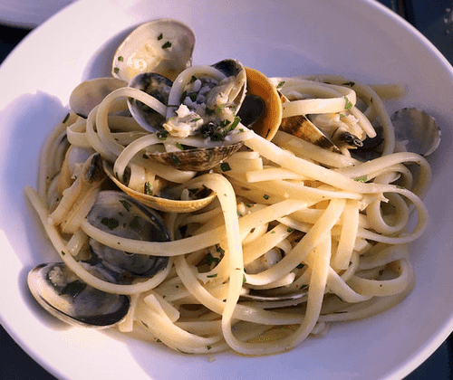Garlic Infused Tagliatelle with Clams